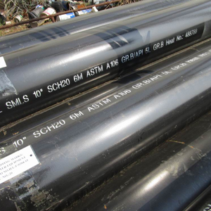 SMLS Carbon Steel Pipe, BE, 6M, 10 Inch, SCH 20 Suppliers India