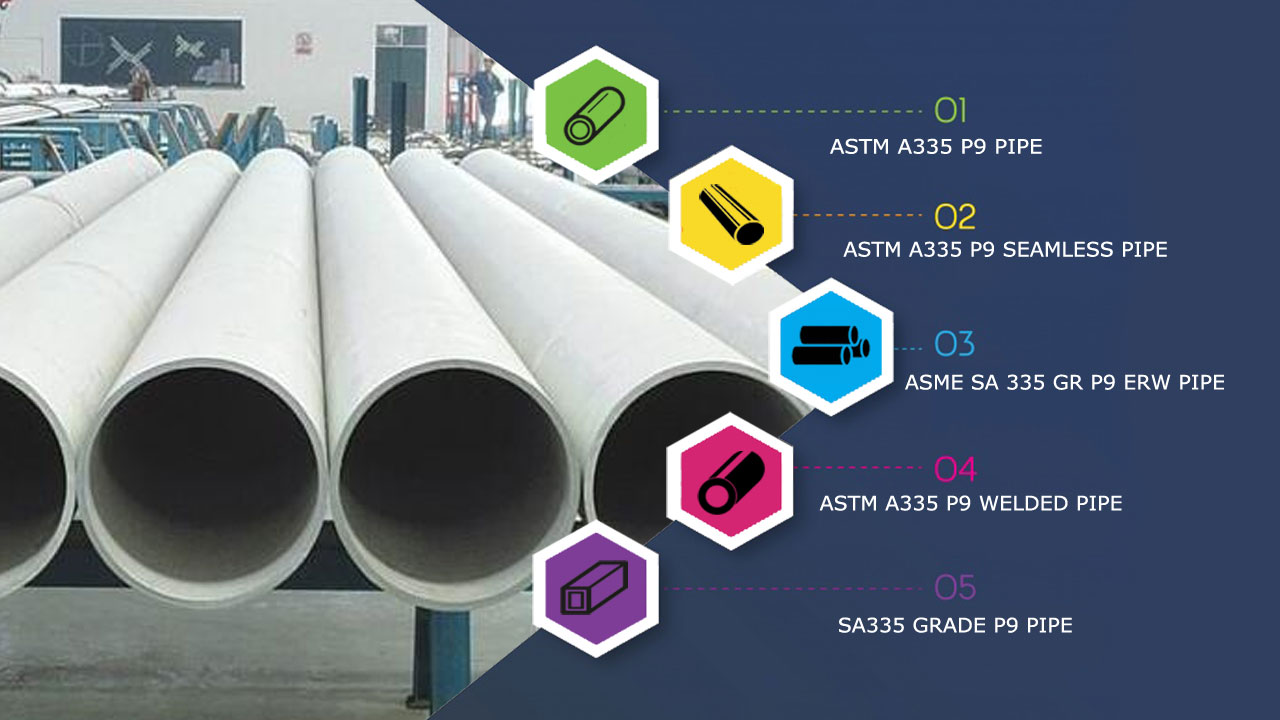 ASTM A335 P9 Pipe Supplier in India